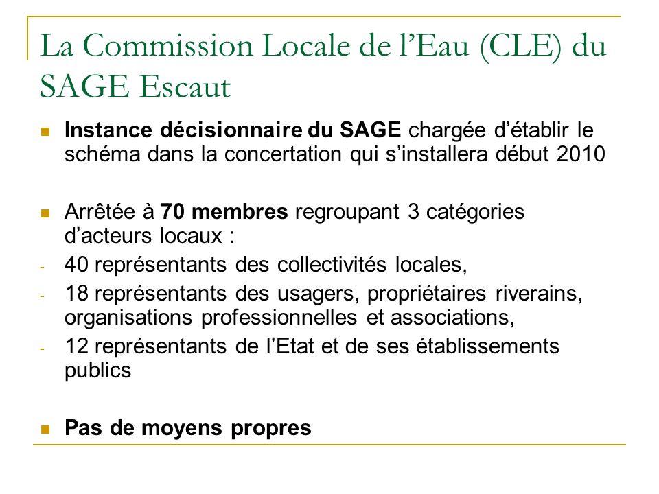 La Commission Locale de l'Eau (CLE) du SAGE Escaut