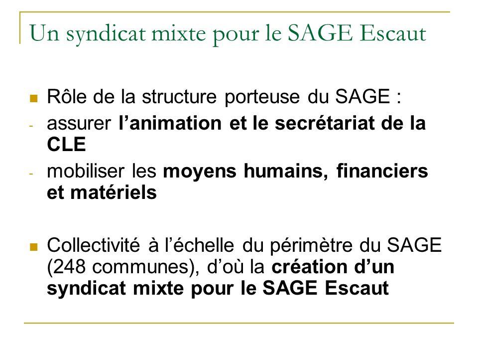 Un syndicat mixte pour le SAGE Escaut