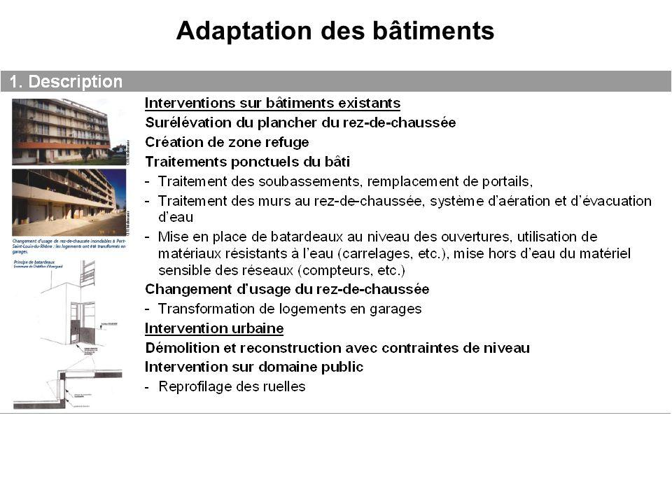 Adaptation des bâtiments