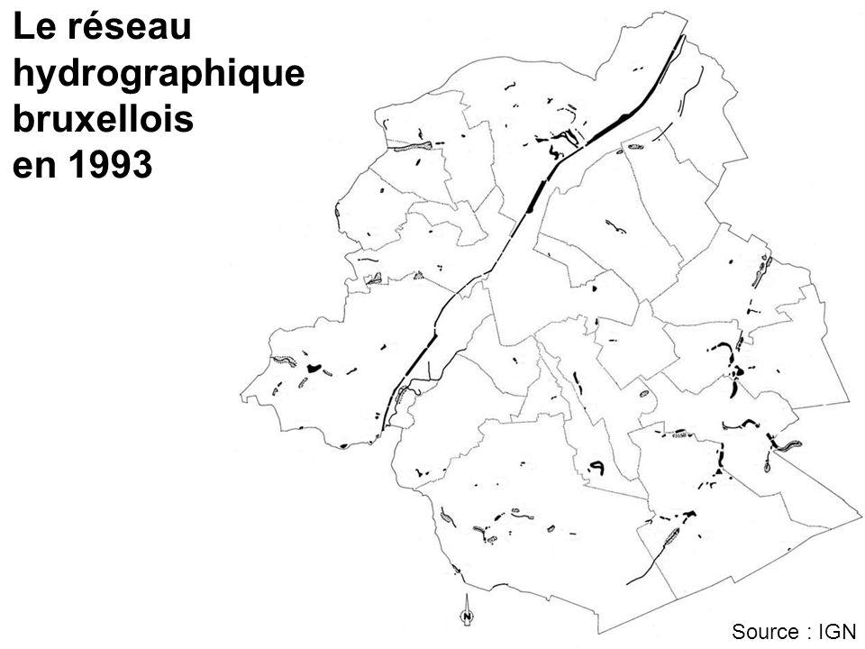 Le réseau hydrographique bruxellois