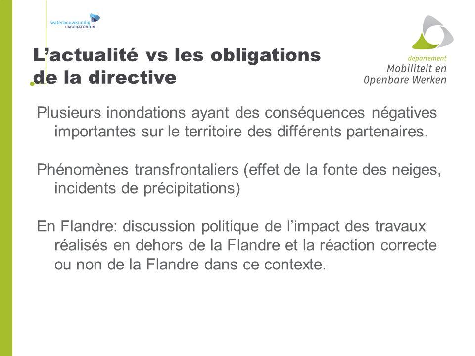 L'actualité vs les obligations de la directive