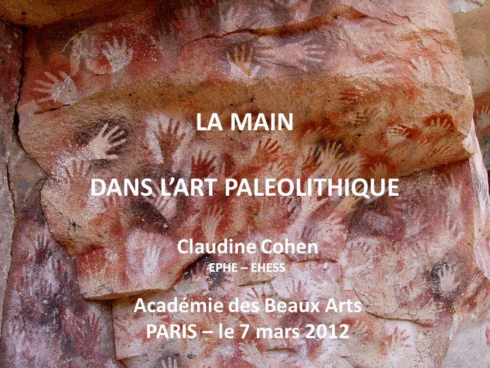 LA MAIN DANS L'ART PALEOLITHIQUE