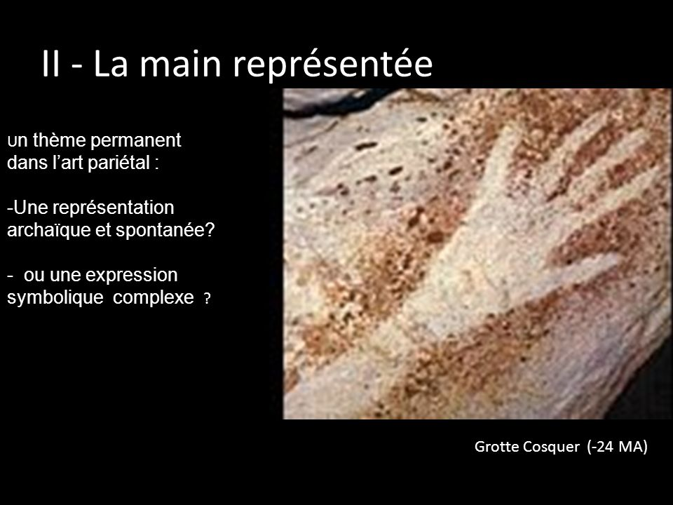 II - La main représentée
