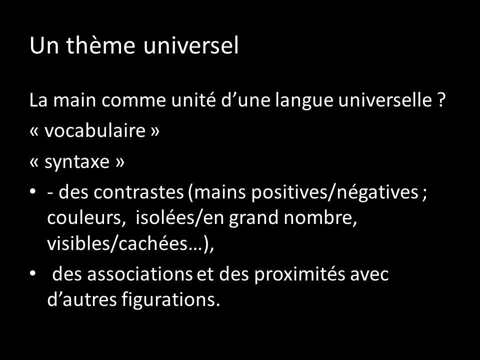 Un thème universel La main comme unité d'une langue universelle