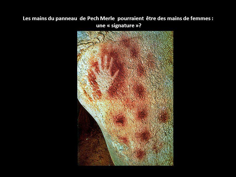 Les mains du panneau de Pech Merle pourraient être des mains de femmes : une « signature »