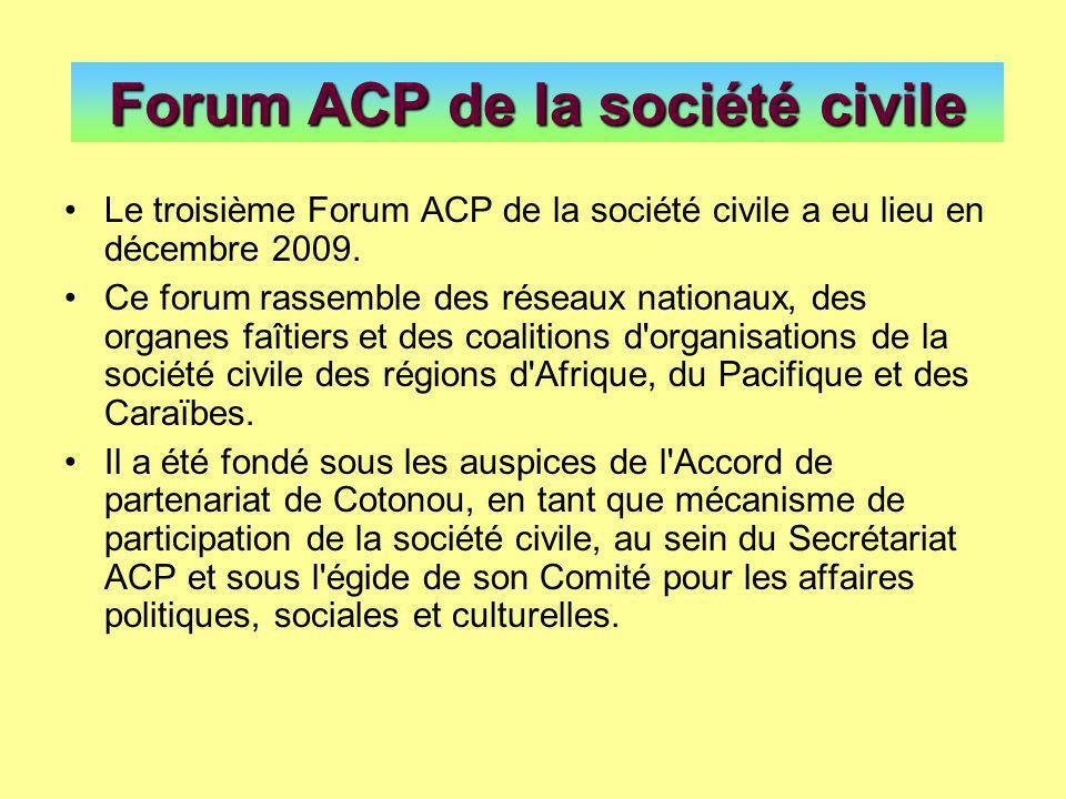Forum ACP de la société civile