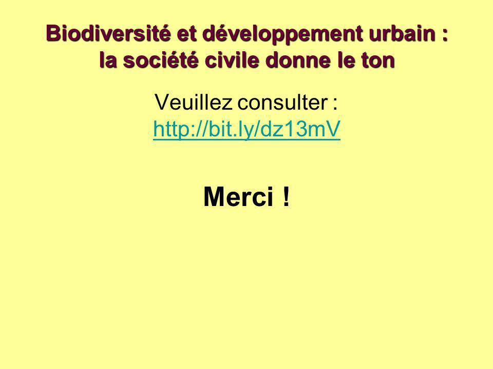 Biodiversité et développement urbain : la société civile donne le ton