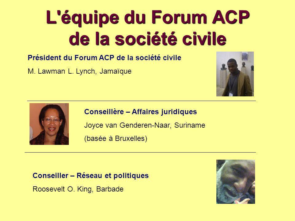 L équipe du Forum ACP de la société civile