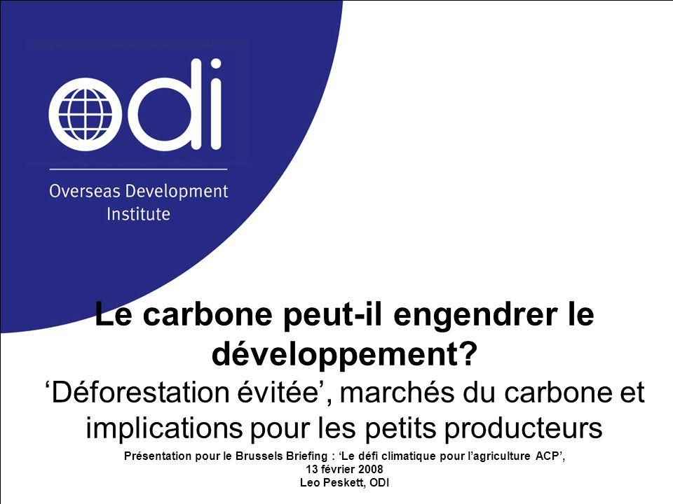 Le carbone peut-il engendrer le développement
