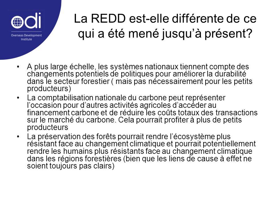 La REDD est-elle différente de ce qui a été mené jusqu'à présent