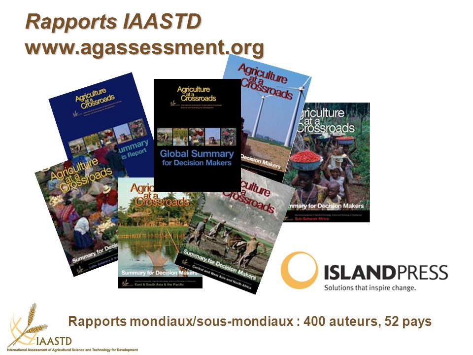 Rapports IAASTD www.agassessment.org