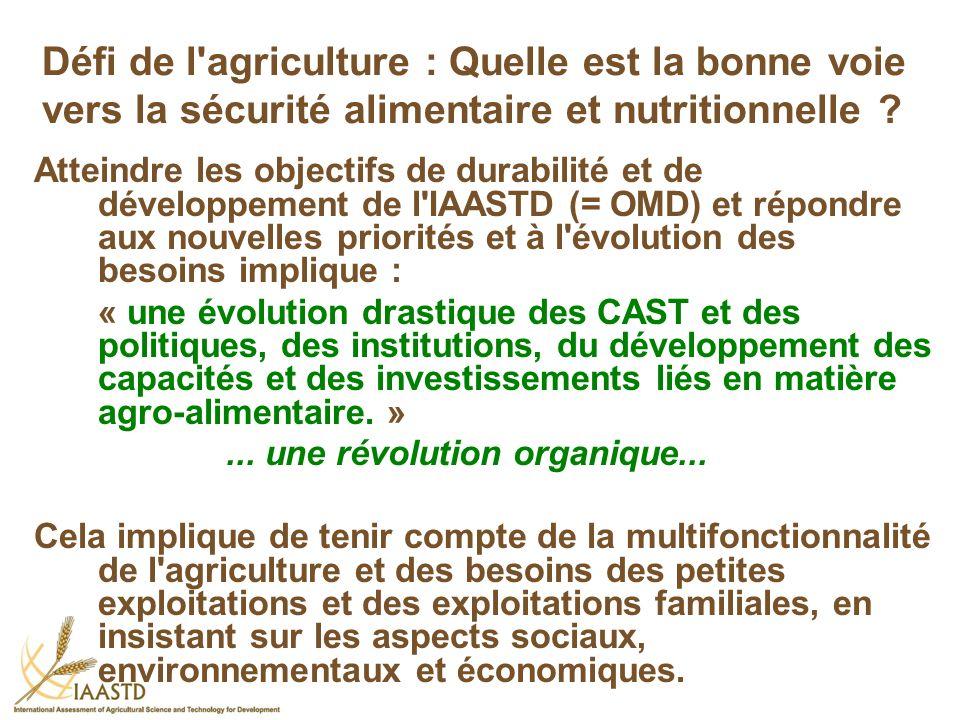 Défi de l agriculture : Quelle est la bonne voie vers la sécurité alimentaire et nutritionnelle