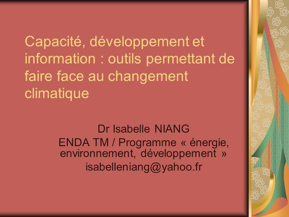 ENDA TM / Programme « énergie, environnement, développement »