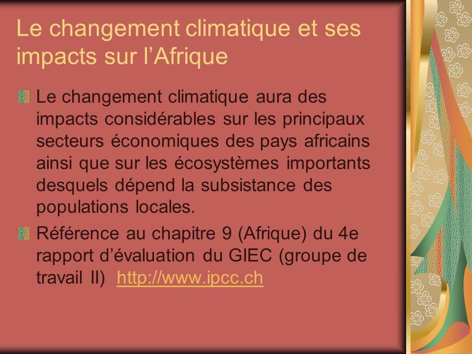 Le changement climatique et ses impacts sur l'Afrique