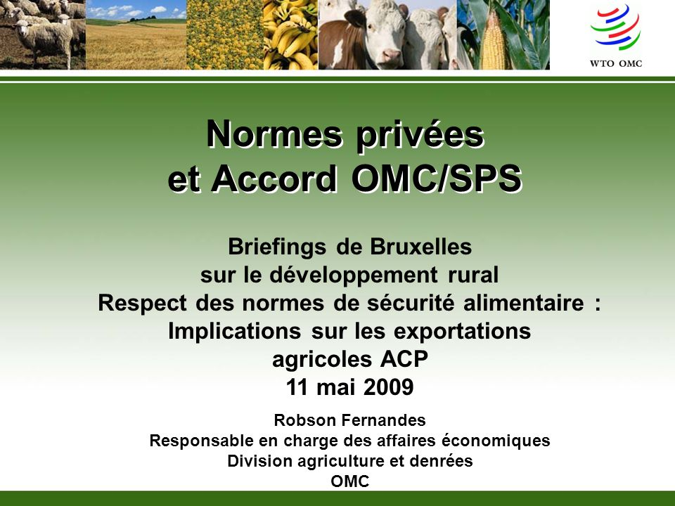 Normes privées et Accord OMC/SPS
