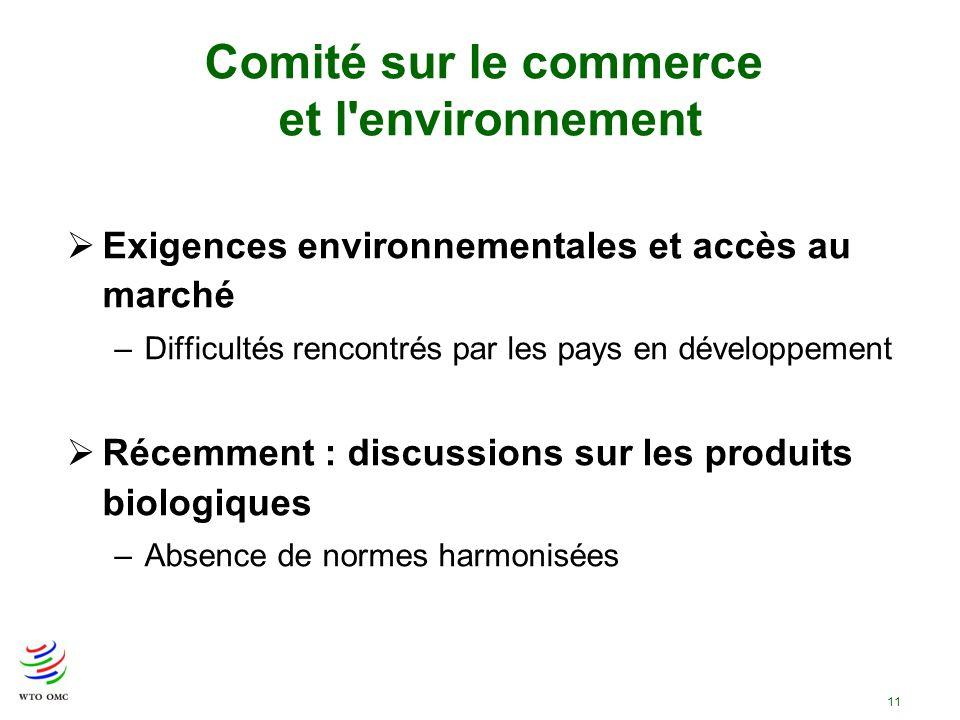 Comité sur le commerce et l environnement