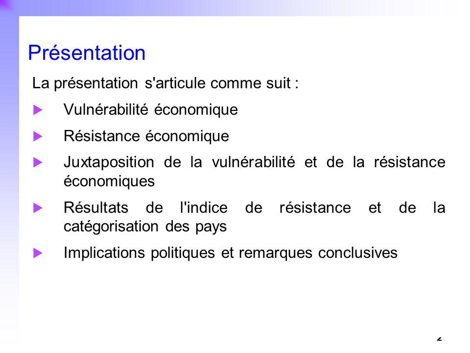 Présentation La présentation s articule comme suit :