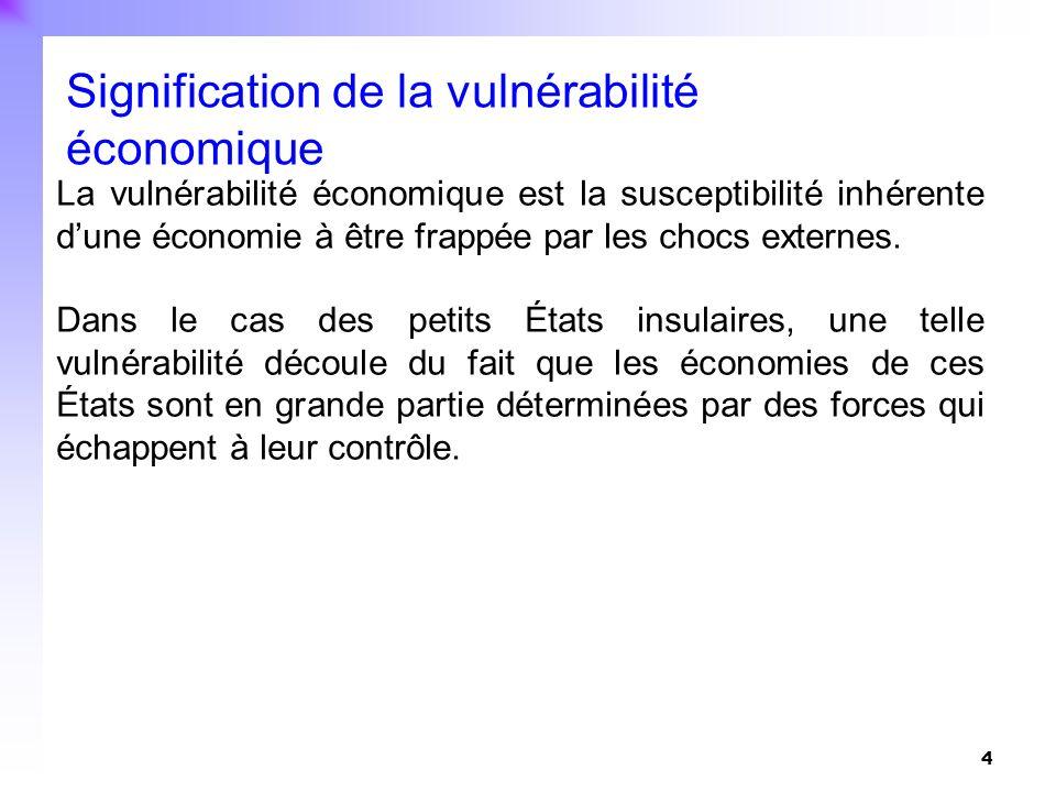 Signification de la vulnérabilité économique