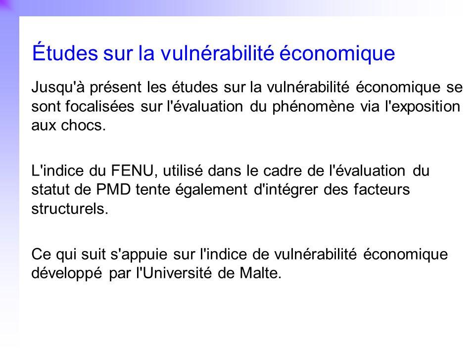 Études sur la vulnérabilité économique