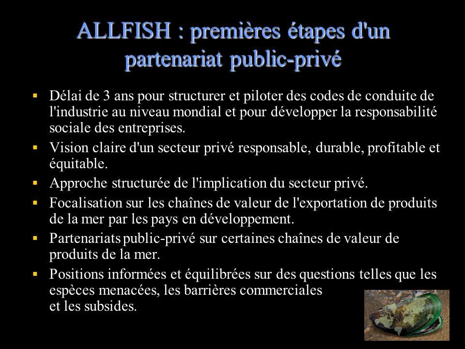 ALLFISH : premières étapes d un partenariat public-privé