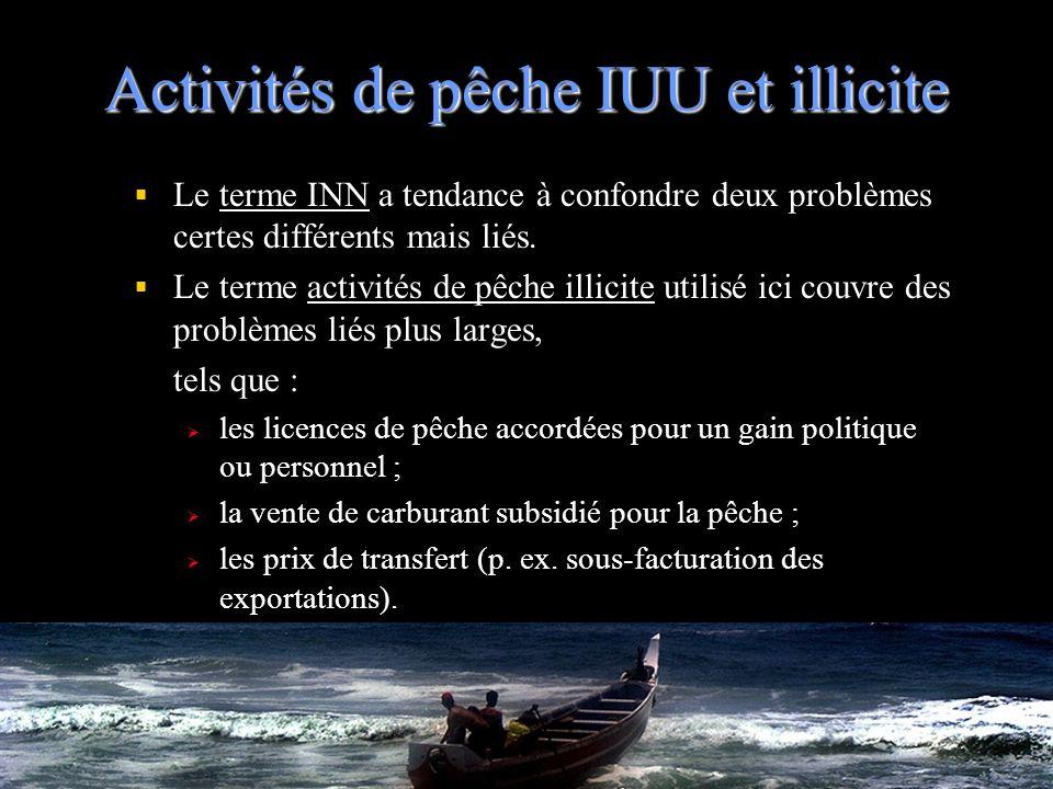 Activités de pêche IUU et illicite
