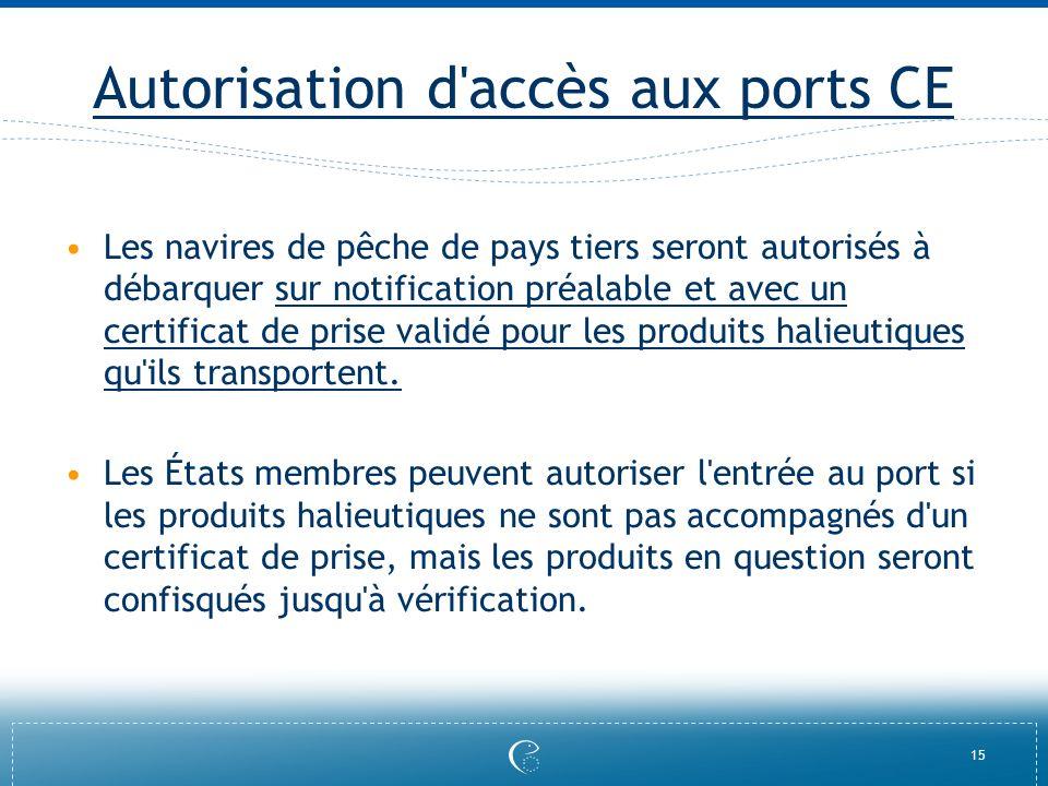 Autorisation d accès aux ports CE