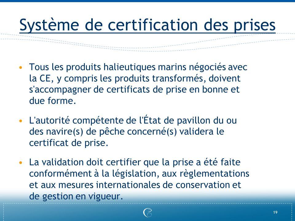 Système de certification des prises