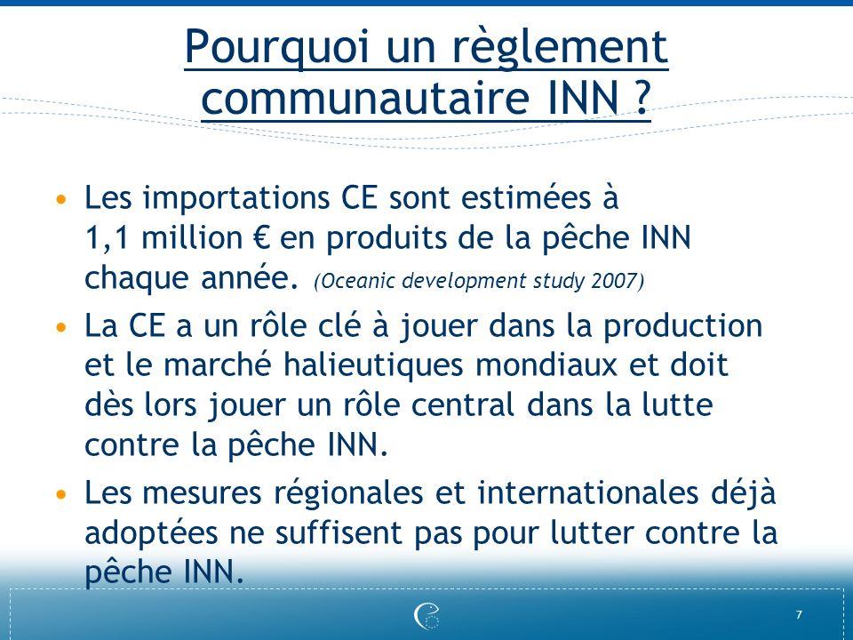 Pourquoi un règlement communautaire INN