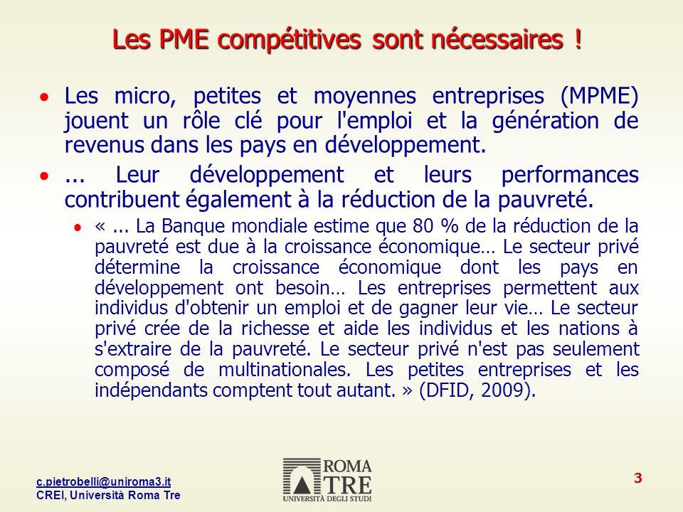 Les PME compétitives sont nécessaires !