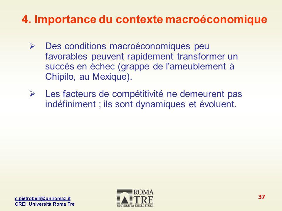 4. Importance du contexte macroéconomique