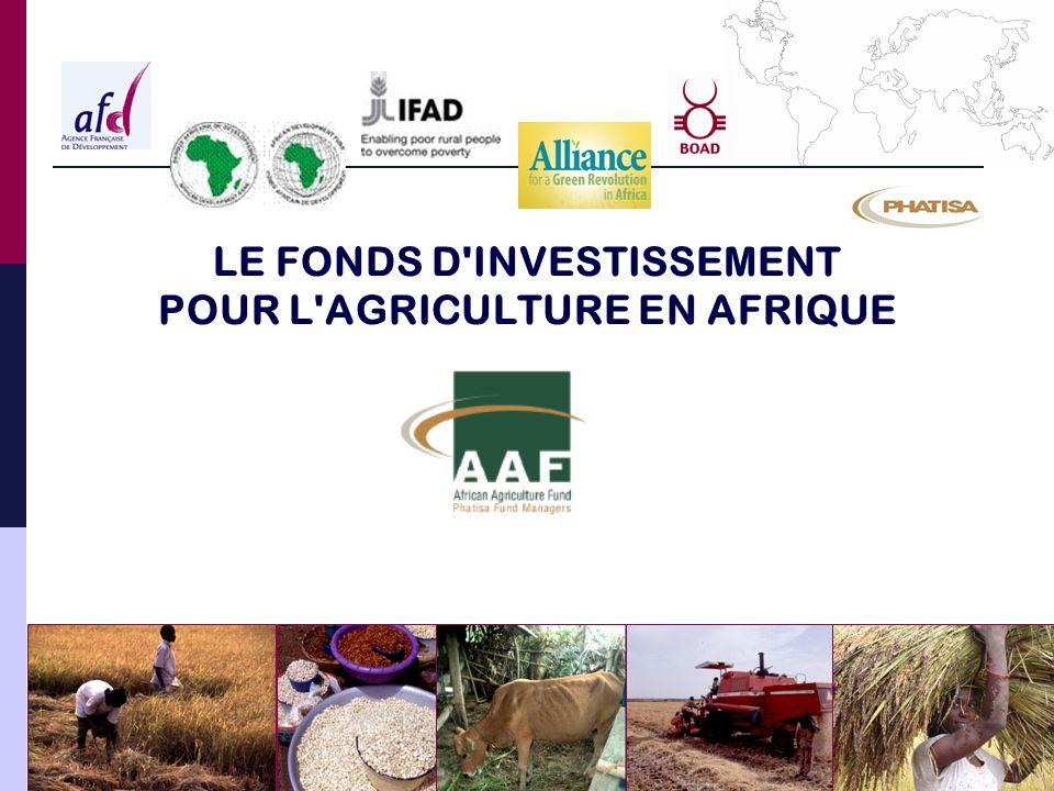 LE FONDS D INVESTISSEMENT POUR L AGRICULTURE EN AFRIQUE