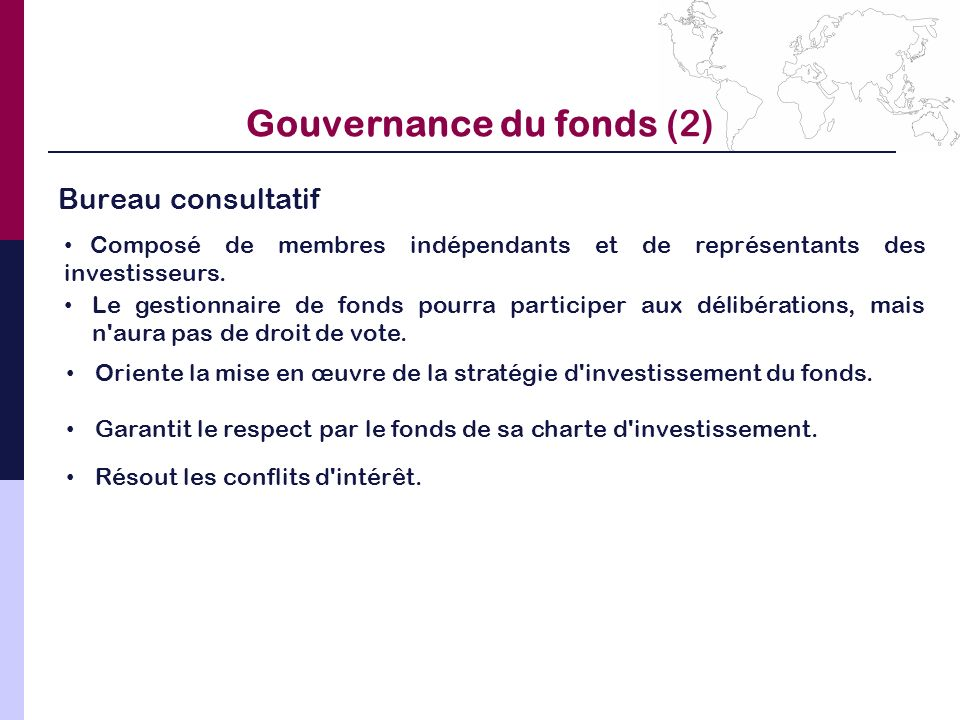 Gouvernance du fonds (2)