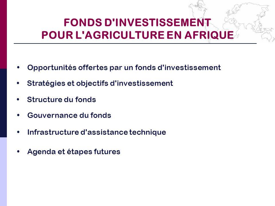 FONDS D INVESTISSEMENT POUR L AGRICULTURE EN AFRIQUE
