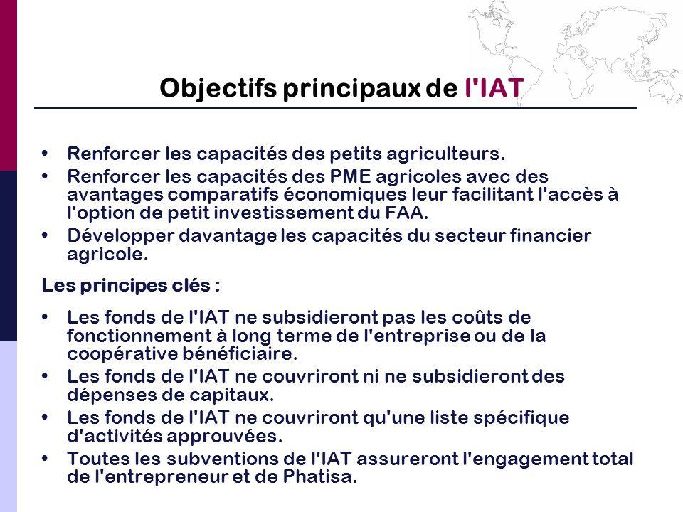 Objectifs principaux de l IAT