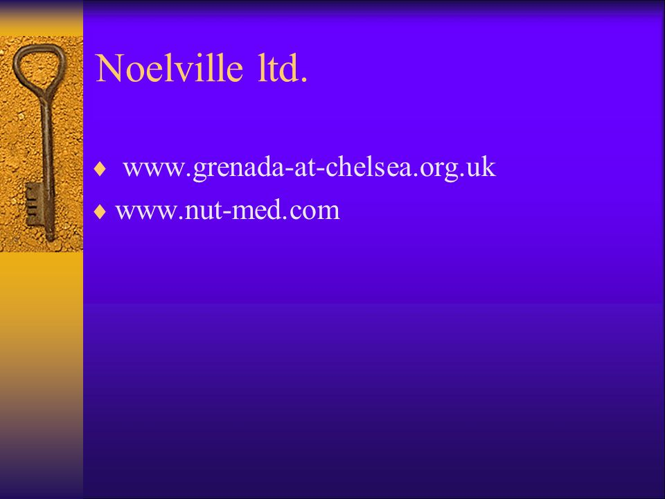 Noelville ltd. www.grenada-at-chelsea.org.uk www.nut-med.com