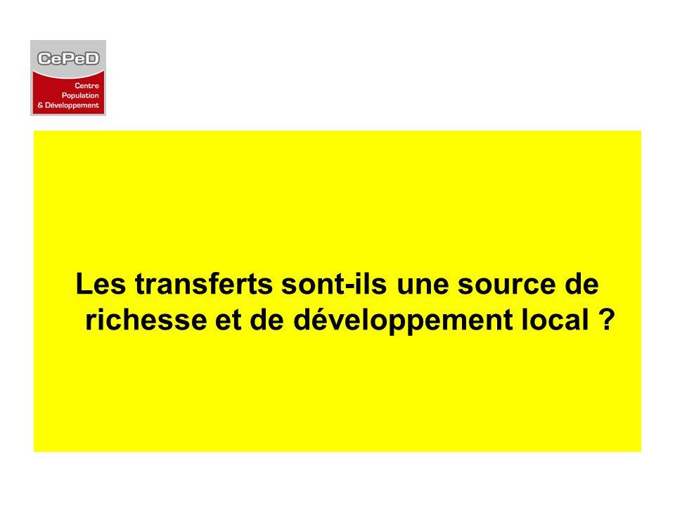 Les transferts sont-ils une source de richesse et de développement local