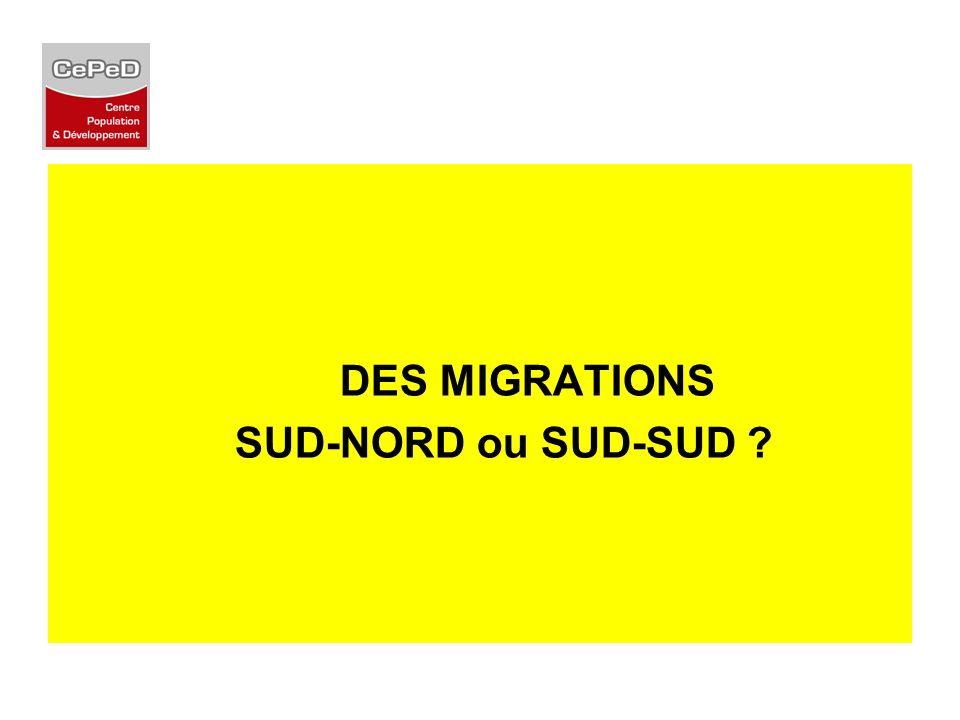 DES MIGRATIONS SUD-NORD ou SUD-SUD