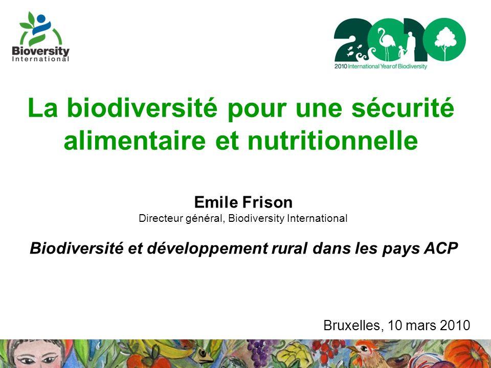 La biodiversité pour une sécurité alimentaire et nutritionnelle