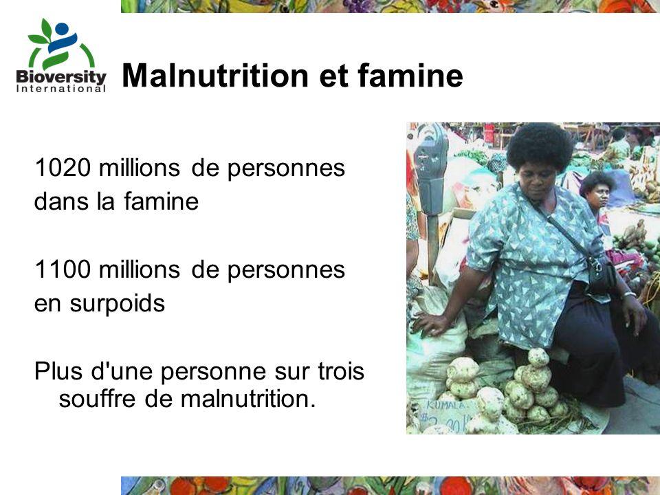 Malnutrition et famine