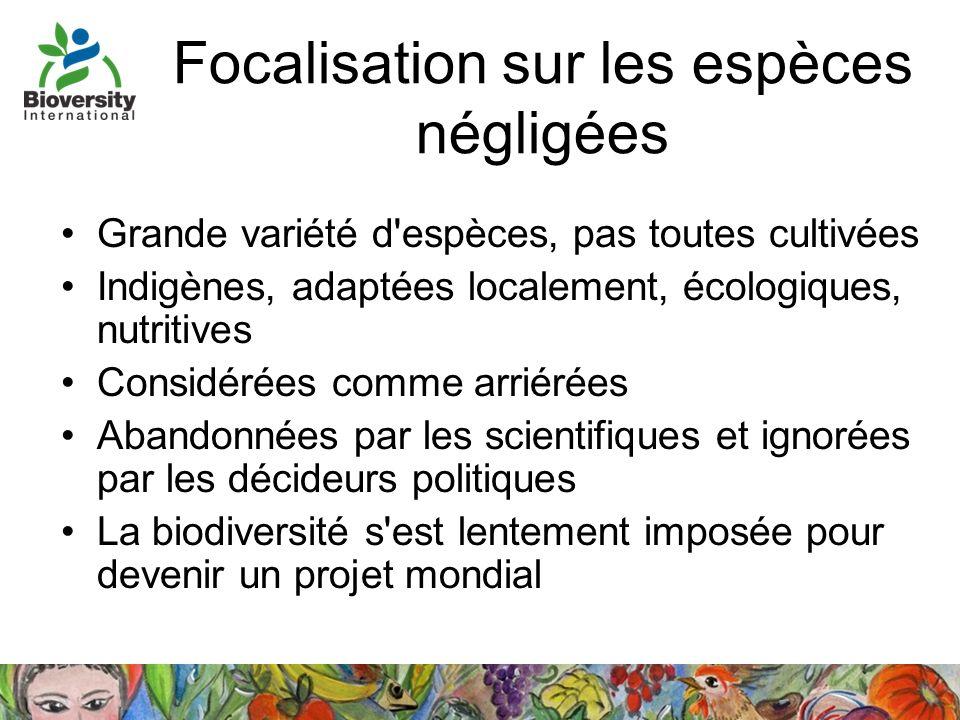 Focalisation sur les espèces négligées