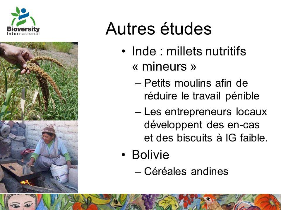 Autres études Inde : millets nutritifs « mineurs » Bolivie