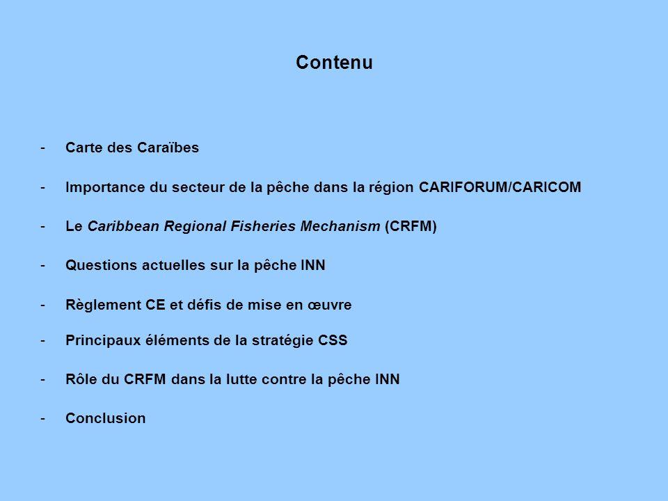 Contenu Carte des Caraïbes