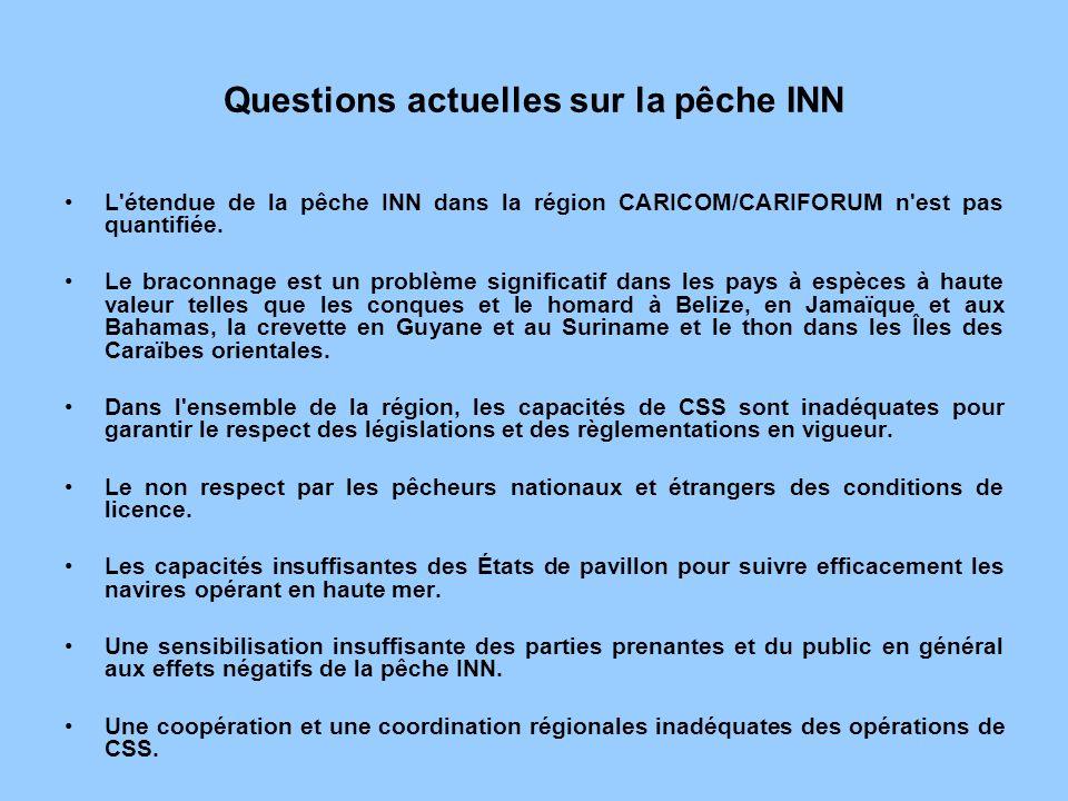 Questions actuelles sur la pêche INN