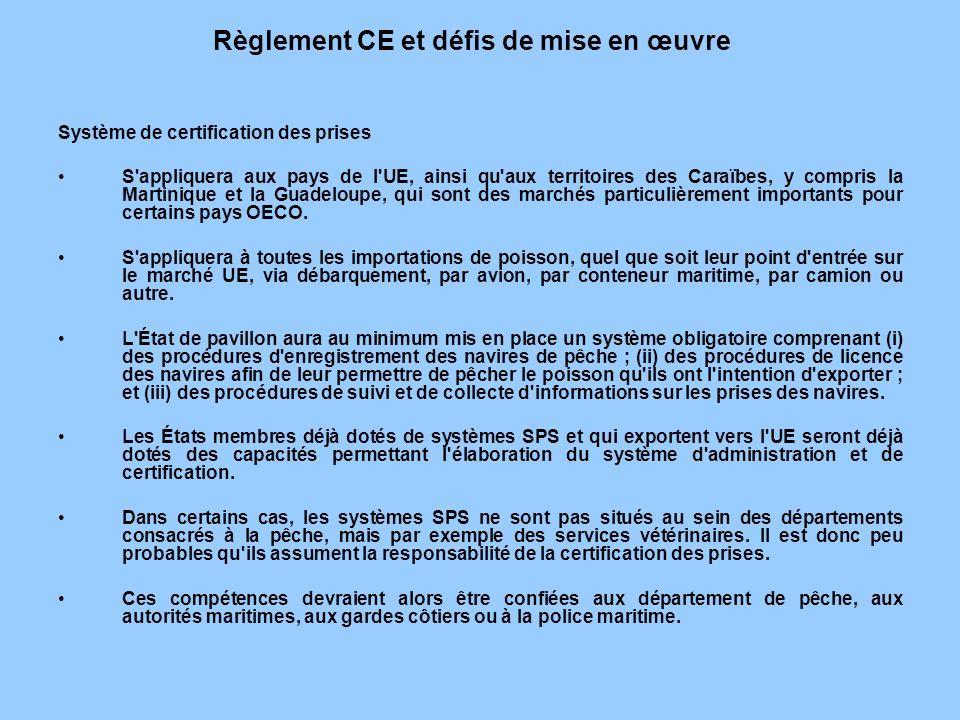 Règlement CE et défis de mise en œuvre
