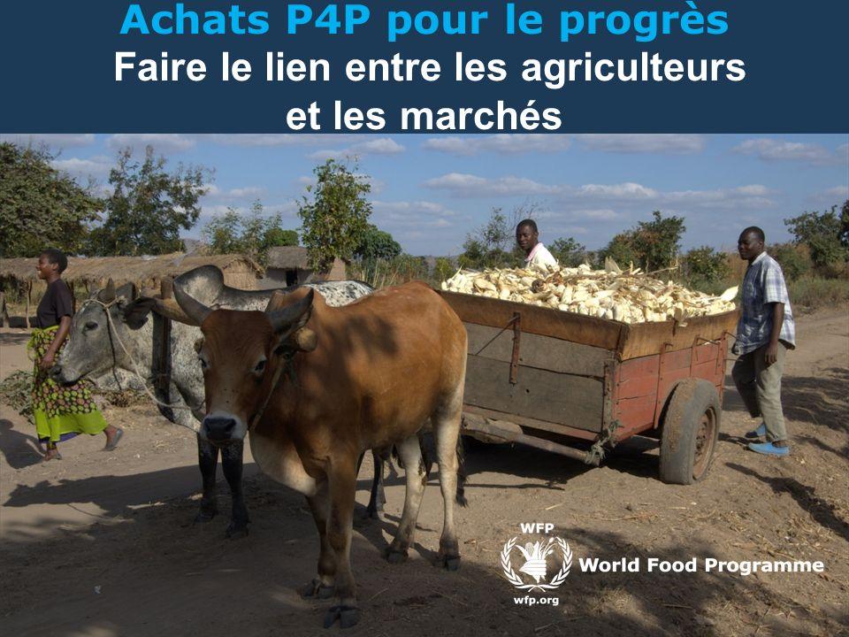 Achats P4P pour le progrès Faire le lien entre les agriculteurs et les marchés