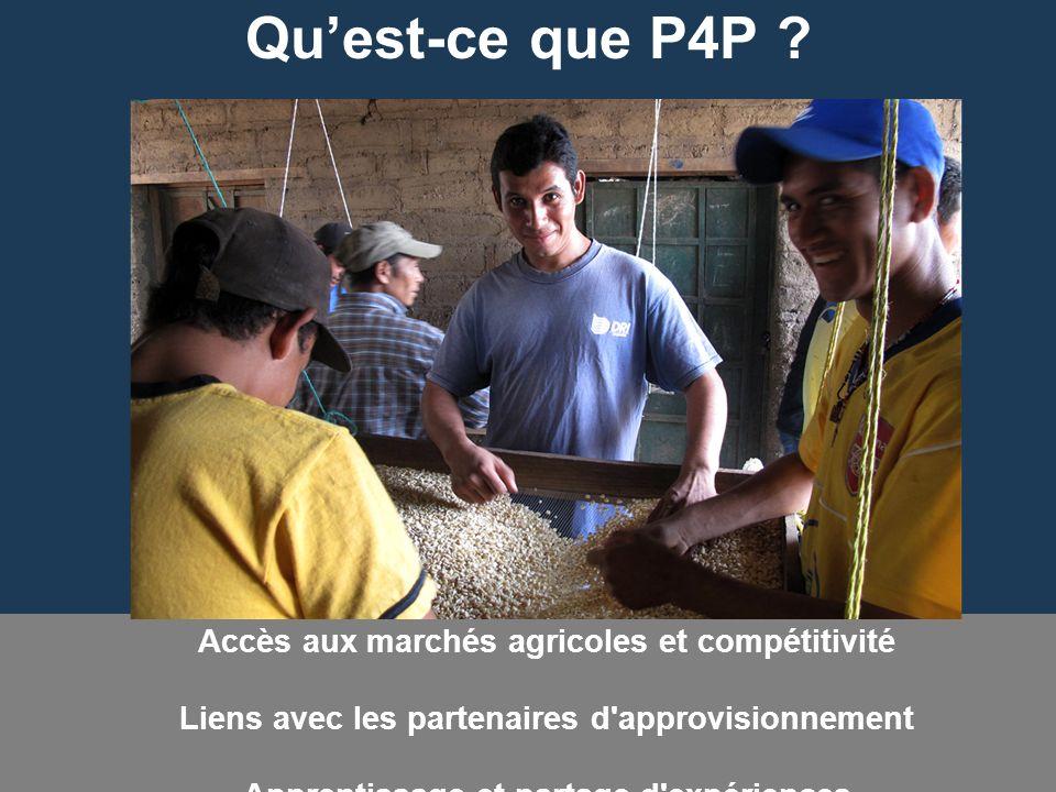 Qu'est-ce que P4P Accès aux marchés agricoles et compétitivité