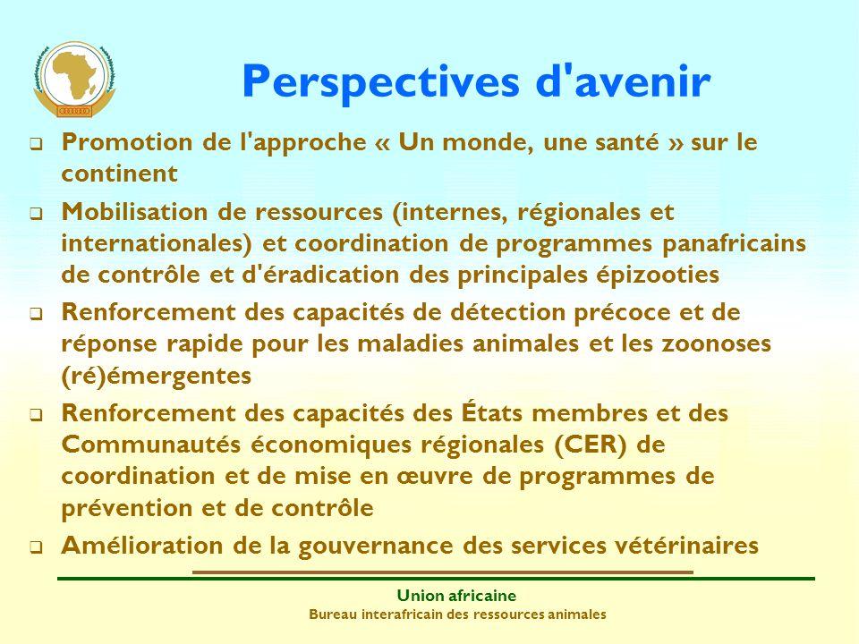 Perspectives d avenirPromotion de l approche « Un monde, une santé » sur le continent.