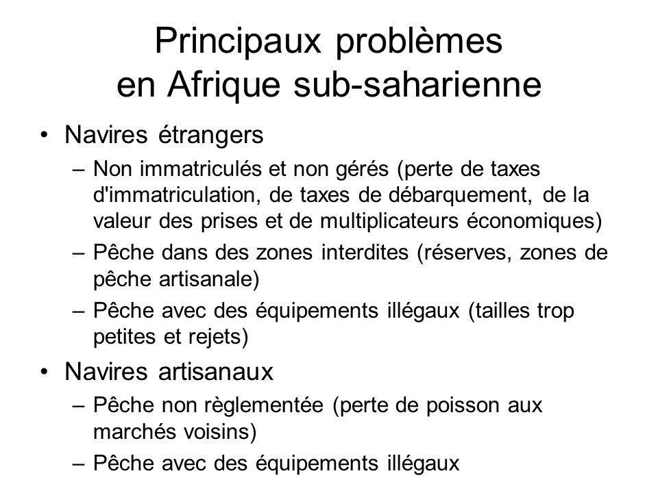 Principaux problèmes en Afrique sub-saharienne