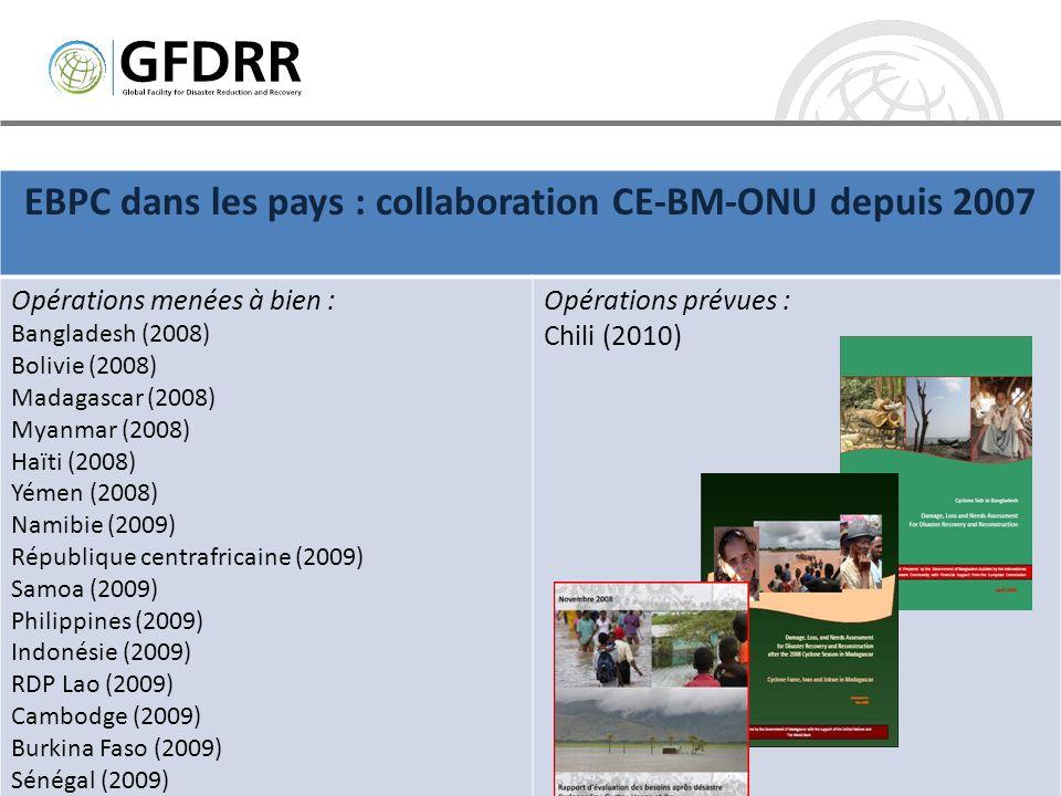 EBPC dans les pays : collaboration CE-BM-ONU depuis 2007