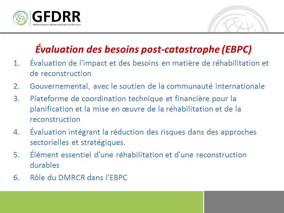 Évaluation des besoins post-catastrophe (EBPC)